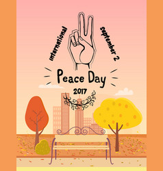 International peace day september 21 2017 symbol vector