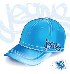 jeans cap vector image vector image