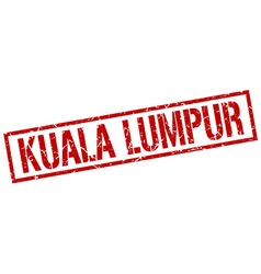 Kuala Lumpur red square stamp vector image vector image
