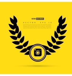 Line camera photo instagram vector image