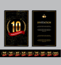 luxury template set of anniversary celebration vector image vector image