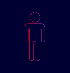 Man sign line icon with vector