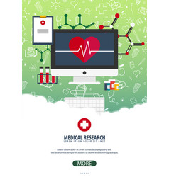 medical research medical poster health care vector image