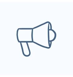 Megaphone sketch icon vector image