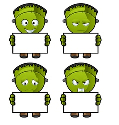 Monster Holding A Blank Board vector image vector image