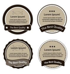 Retro Design Premium Vintage Labels vector image