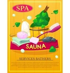Sauna poster vector image vector image