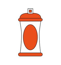 Spray paint bottle vector