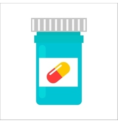 Tablet pills tube vector image