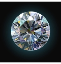 The sparkling diamond on a black background vector image vector image