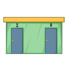 Toilet icon cartoon style vector