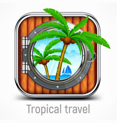 tropical travel concept vector image vector image