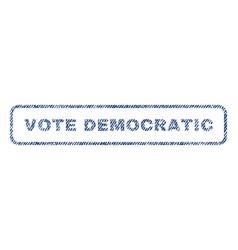 vote democratic textile stamp vector image vector image