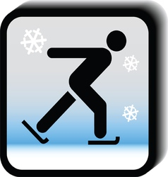 Winter icon -Skating vector image vector image