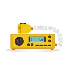 Yellow radio taxi service icon vector