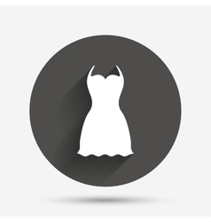 Woman dress sign icon elegant clothes symbol vector