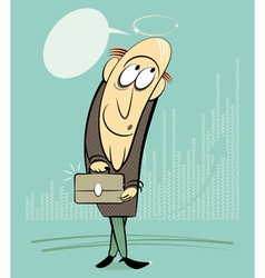 businessman investor vector image