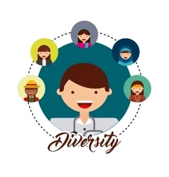 diversity of world cultures vector image
