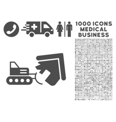 Demolition icon with 1000 medical business vector