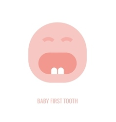 First tooth icon vector