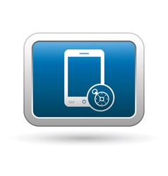 Phone with navigation icon vector