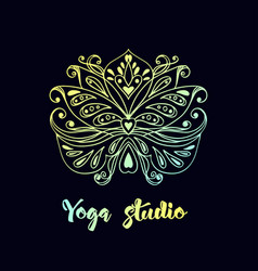 logo template with lotus flower vector image