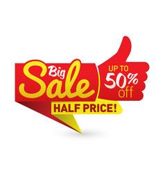 big sale price offer deal labels templates vector image