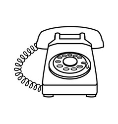 telephone talk communication element image line vector image