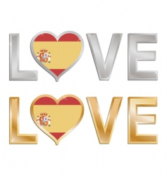 love Spain vector image