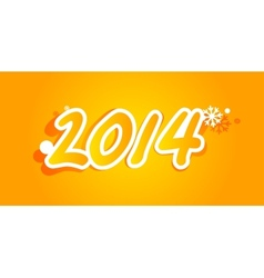 inscription 2014 vector image