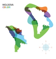 Abstract color map of moldova vector