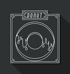 Donuts shop design vector