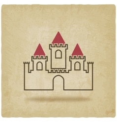 Castle with towers symbol old background vector