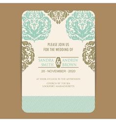 wintage wedding card vector image