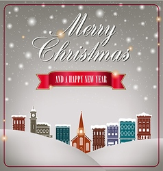 Quaint christmas village vector