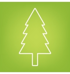 New year tree line icon vector