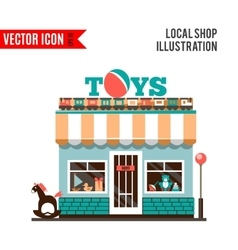 Toy shop icon isolated on white background vector