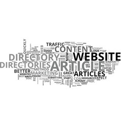 article directories add value text word cloud vector image