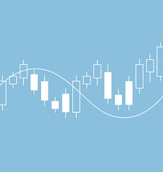 Candle stick graph chart of stock market vector