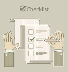 checklist vector image vector image