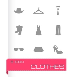 clothes icons set vector image vector image