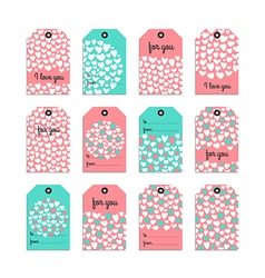 Collection of cute gift tag vector