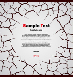 cracks circle with text vector image