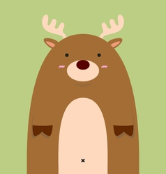 cute fat big deer vector image vector image
