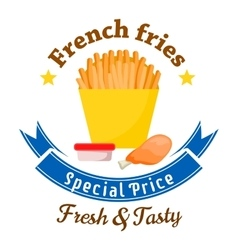 Fast food lunch special offer icon for menu design vector image vector image