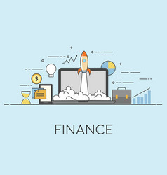 Finance sucsesssfull startup vector