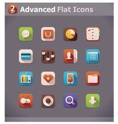 flat UI icons vector image