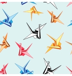 Graphic pattern of origami birds vector
