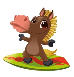 Horse with surf vector image vector image