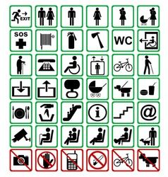 International signs vector image